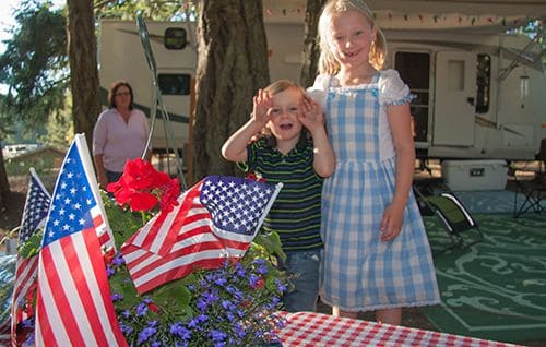 Kids Celebrating the 4th of July