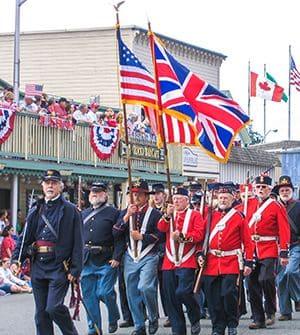 San Juan Island Military Parade
