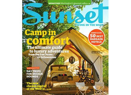 Lakedale Resort featured in Sunset magazine