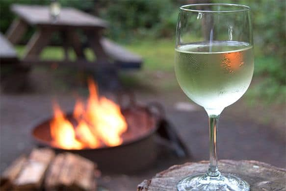 wine glass fire at 390