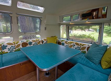 aerostream camper rental interior view