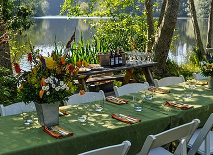 Lakedale's outdoor event area