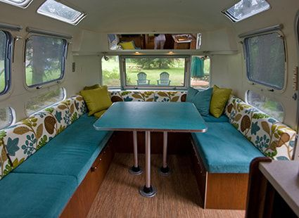 Lakedale's airstream camper interior view