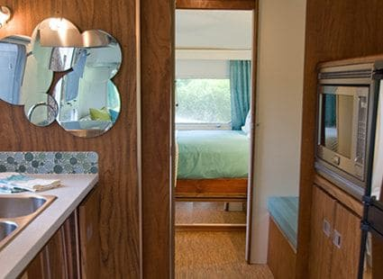 Lakedale's airstream rental interior