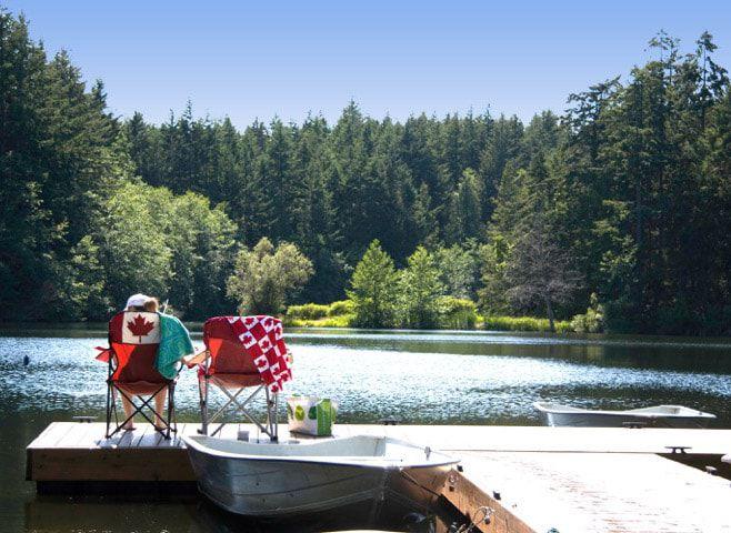 Enjoying Dream Lake views