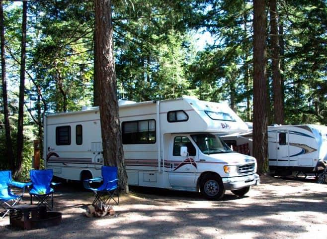 Lakeside RV campsite