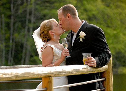 just married at Lakedale resort