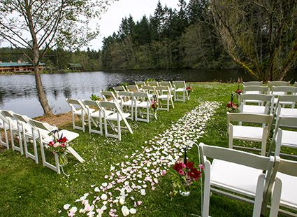 outdoor wedding venue in the San Juan Islands