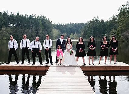 wedding party on Dream Lake San Juan Island