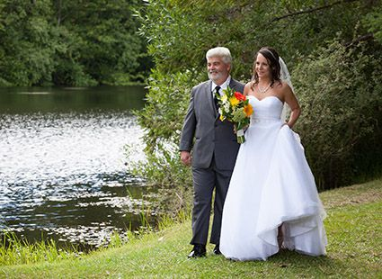 walking down the aisle at Lakedale
