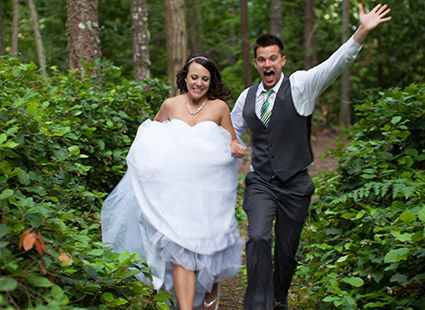 Lakedale bride and groom