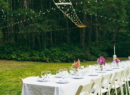 lakedale outdoor wedding tables