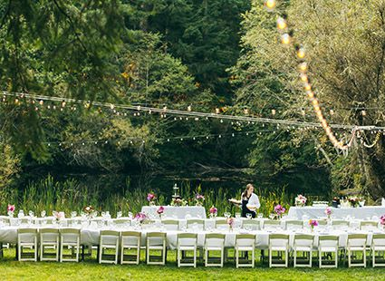 lakedale wedding reception guest tables