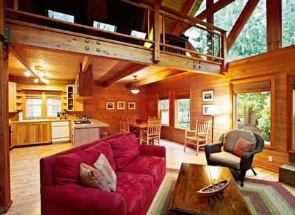 luxury lake house rental interior