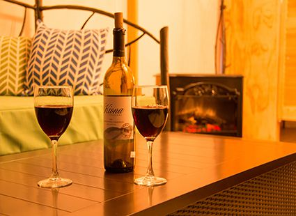 wine and canvas cottage interior