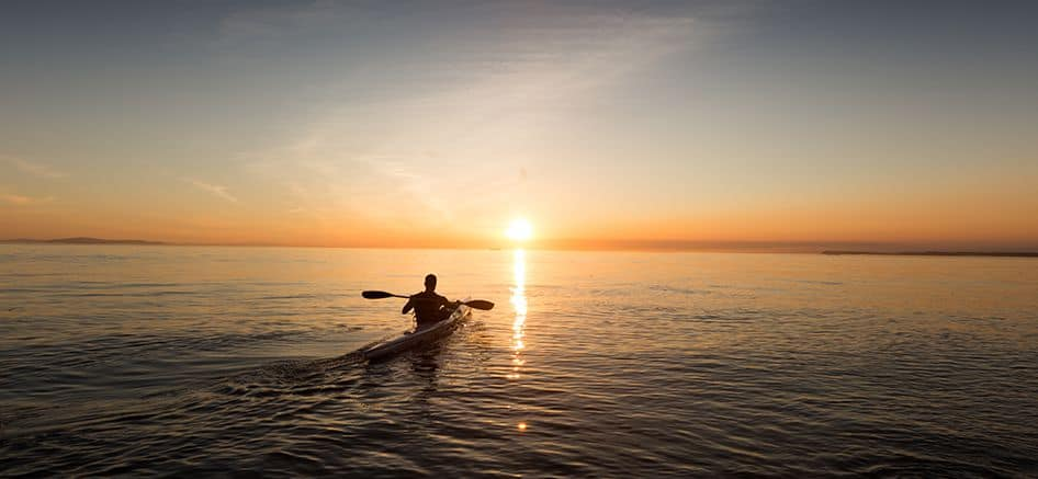 San Juan Island Kayaking Sunset