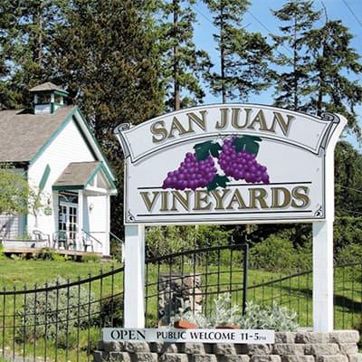 Sign for San Juan Vineyards