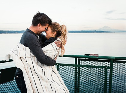couple on ferry at 420