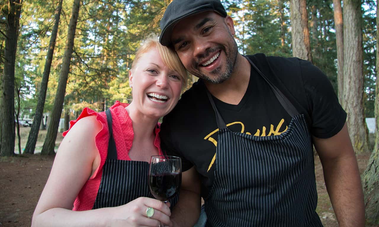 1280 Chef Matt Lewis and girlfriend at Gourmet Glamping