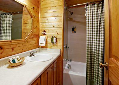 1280 Log Cabin bathroom