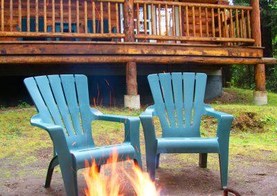 1280 Log Cabin with fire adj