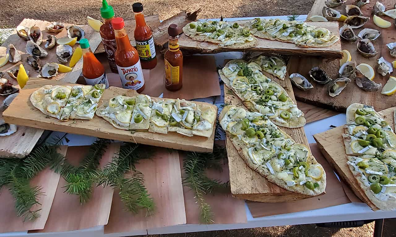 1280 appetizers at Gourmet Glamping