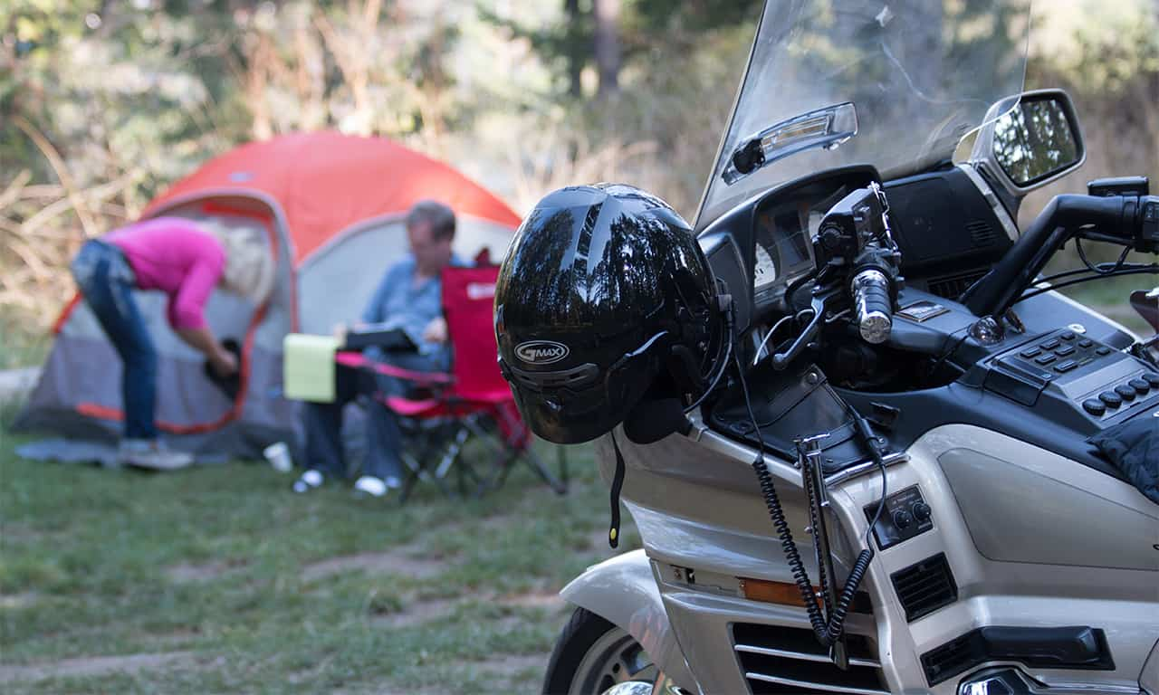 1280 camping motorcycle