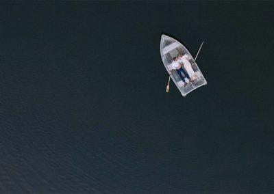 1280 drone wedding above lake
