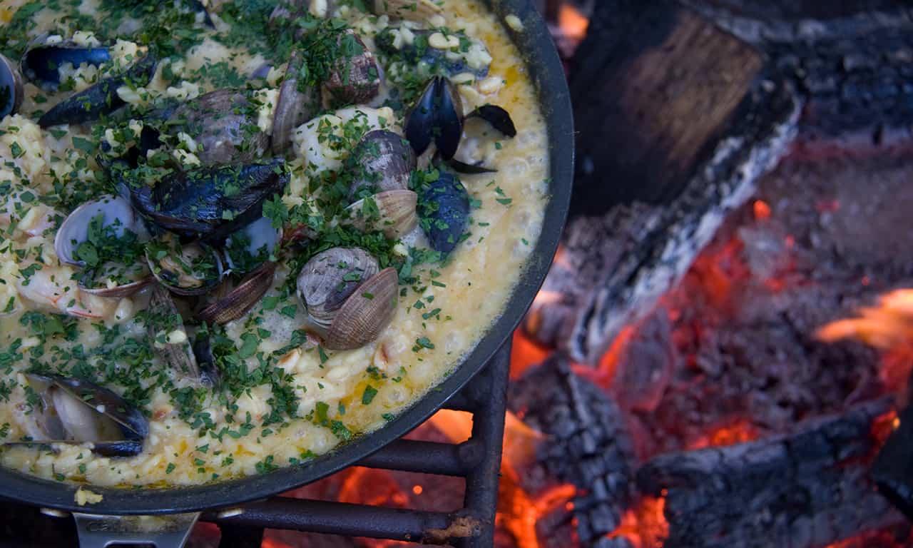 1280 risotto at Gourmet Glamping