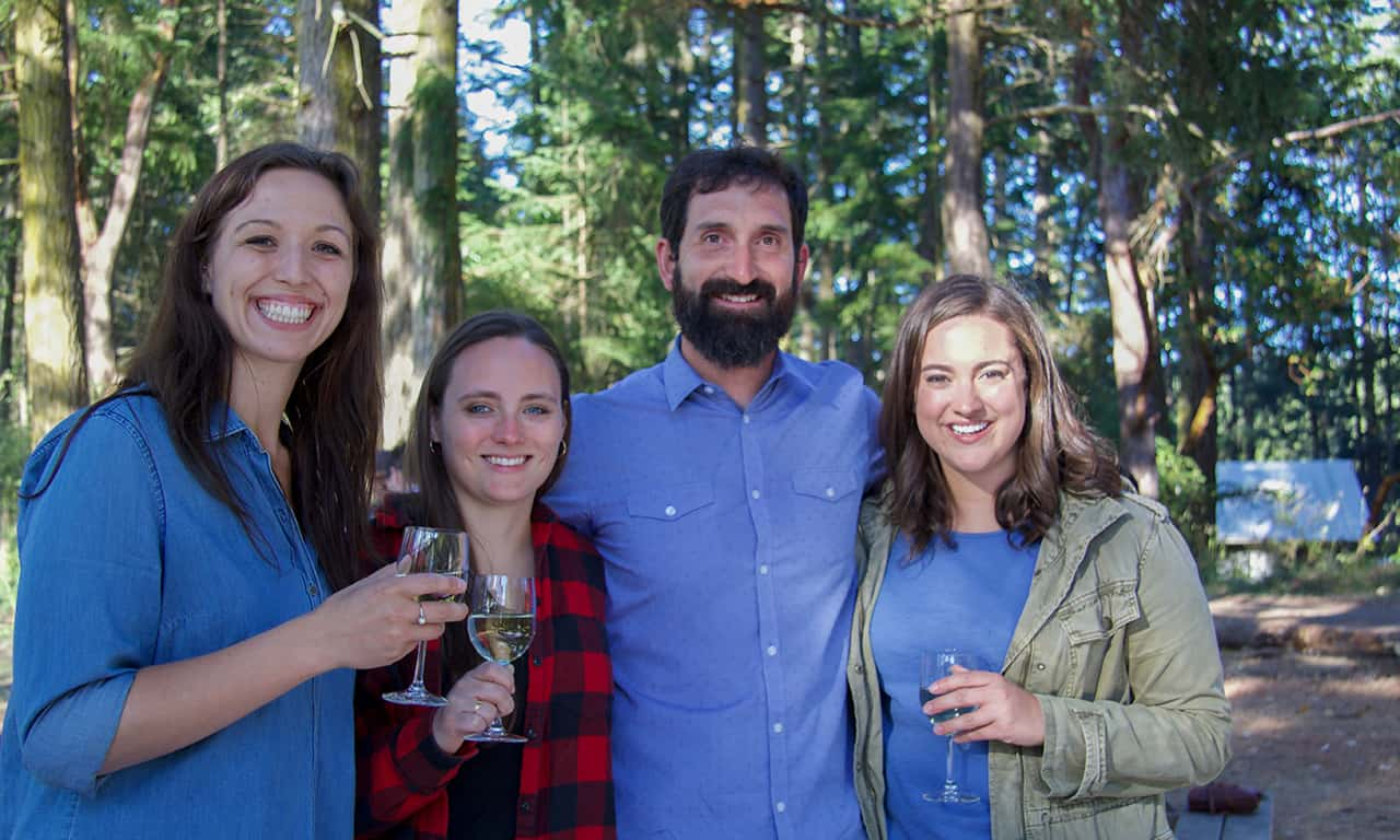 1280 winemaker with guests in forest