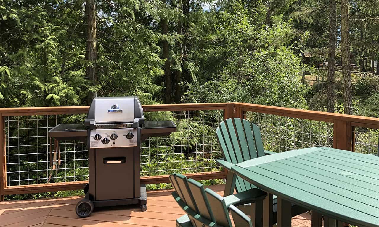 1280 yurt exterior BBQ on deck