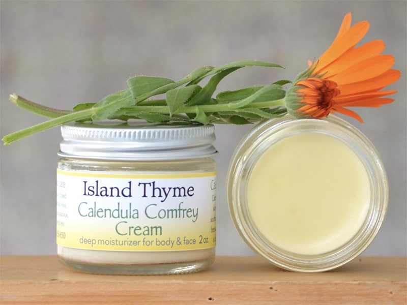 Calendula Comfrey Lotion from Island Thyme in San Juan Islands