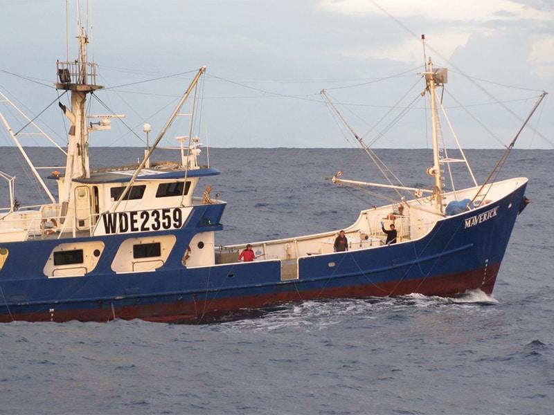Tuna boat Maverick on the high seas