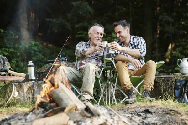 two men camping
