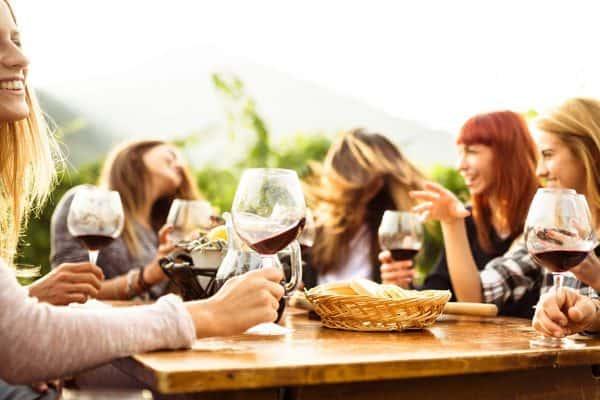 women on a girl's getaway having a picnic