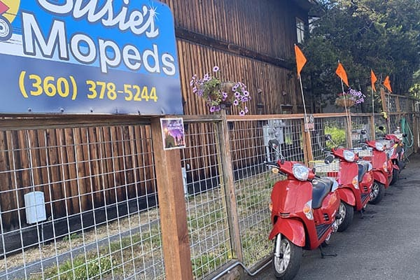 Susie's Mopeds on San Juan Island