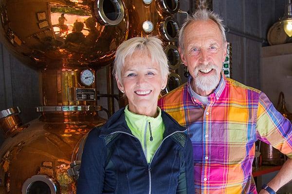 Wescott Bay Distillery owners on San Juan Island