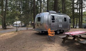 Airstream with glamping at Lakedale