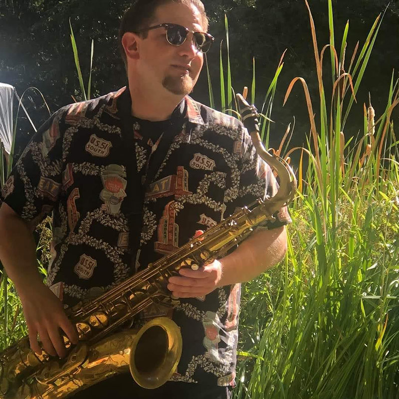 saxophonist at Lakedale's Music Festival
